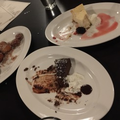 Desserts quickly devoured